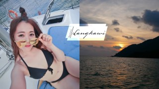 蘭卡威 搭帆船遊艇看海上夕陽吃BBQ。不曬太陽又舒服的行程推薦