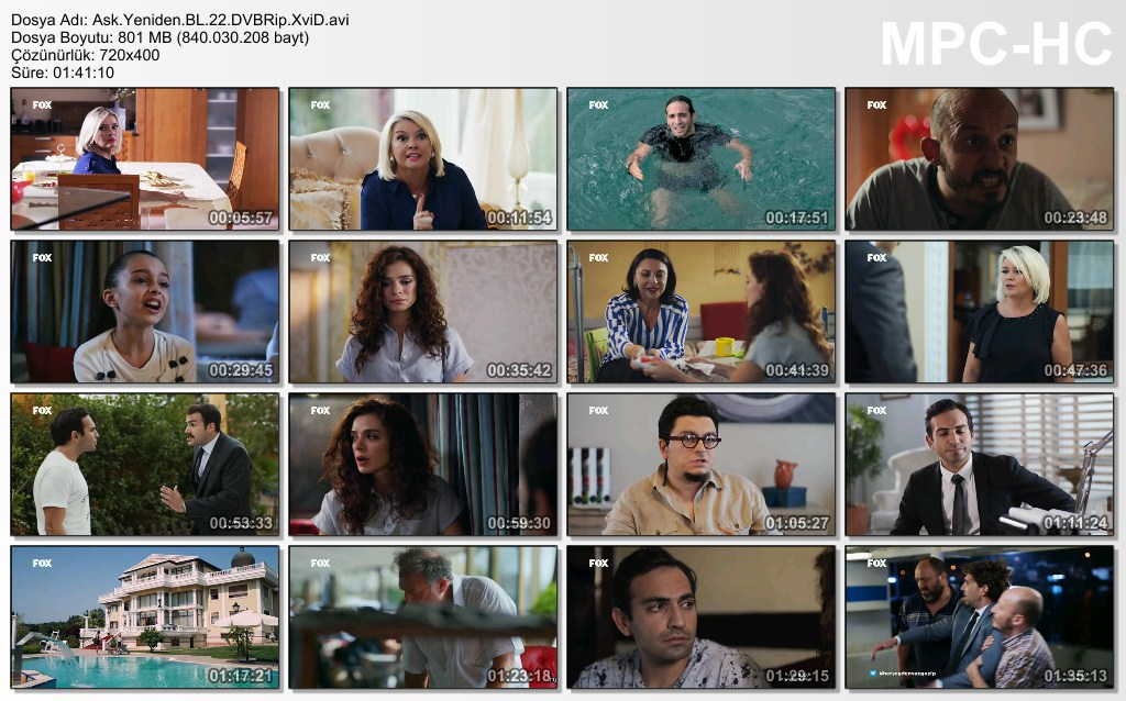 Aşk Yeniden 22.Bölüm DVBRip XviD - Tek Link