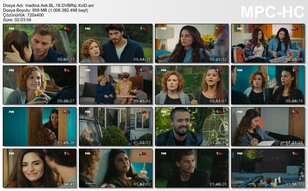 İnadına Aşk 18.Bölüm DVBRip XviD - Tek Link