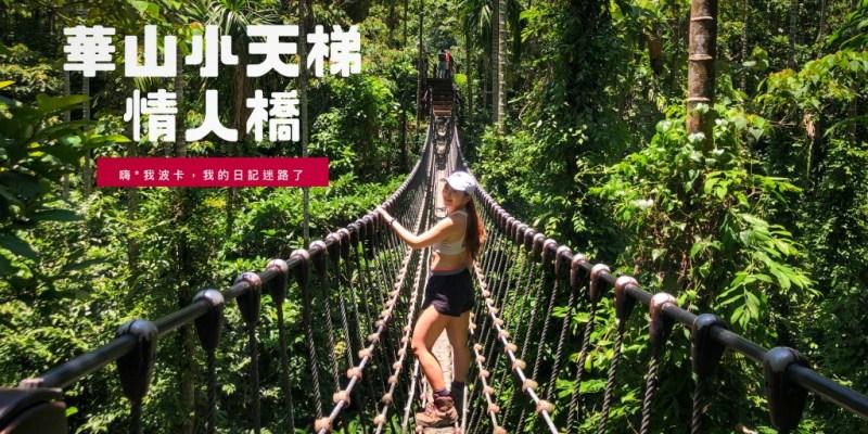 華山小天梯.情人橋,雲林古坑華山休閒農業區免費景點,超刺激叢林繩索吊橋錯覺一秒來到清邁!