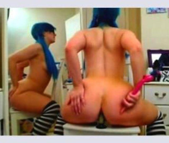 Emo Girl Rides Dildo Anal Camgirlz777 Com