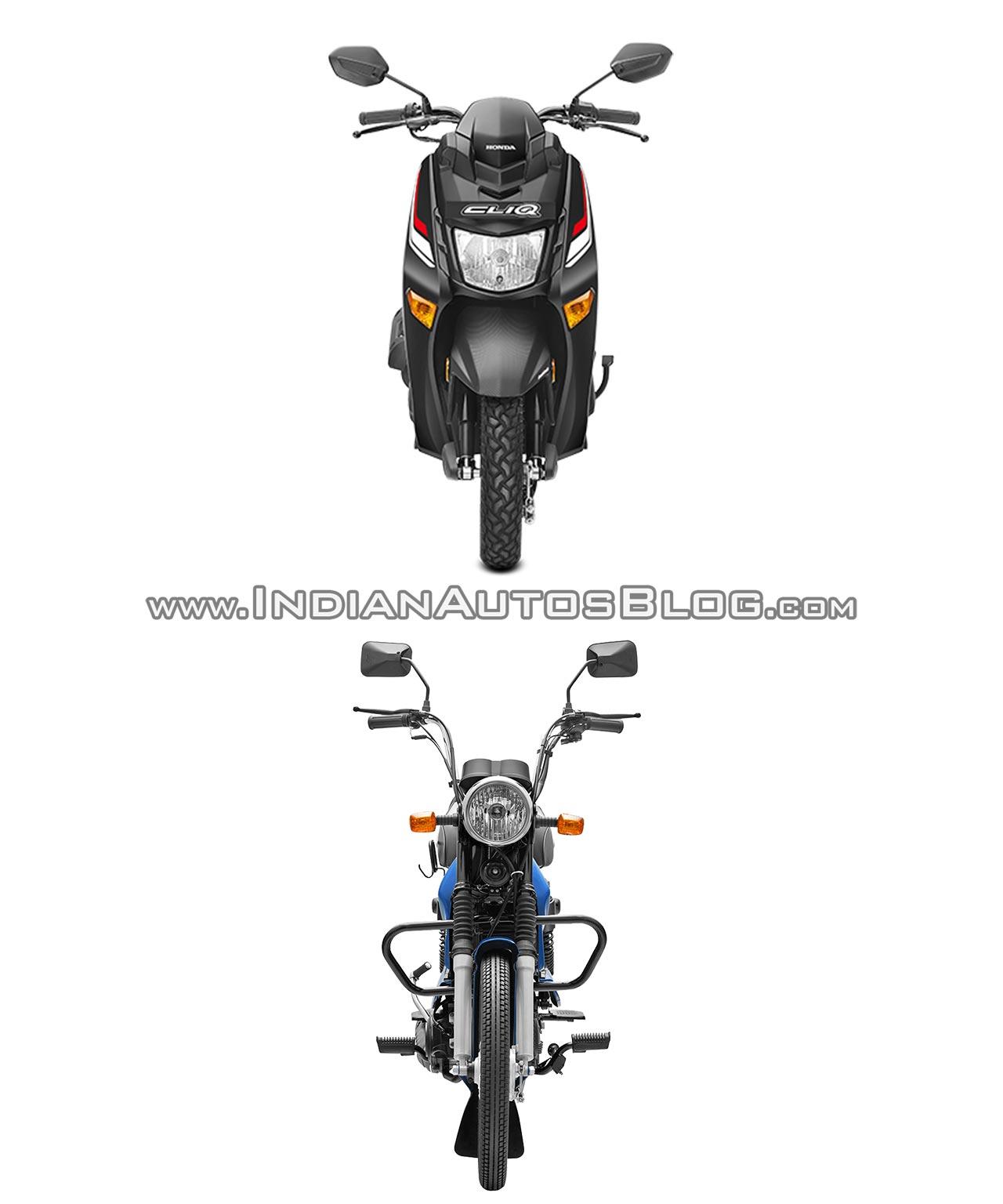 Honda Cliq Vs Tvs Xl 100 Spec Comparo Front