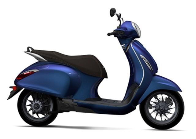 Bajaj Chetak Premium Indigo Metallic side profile