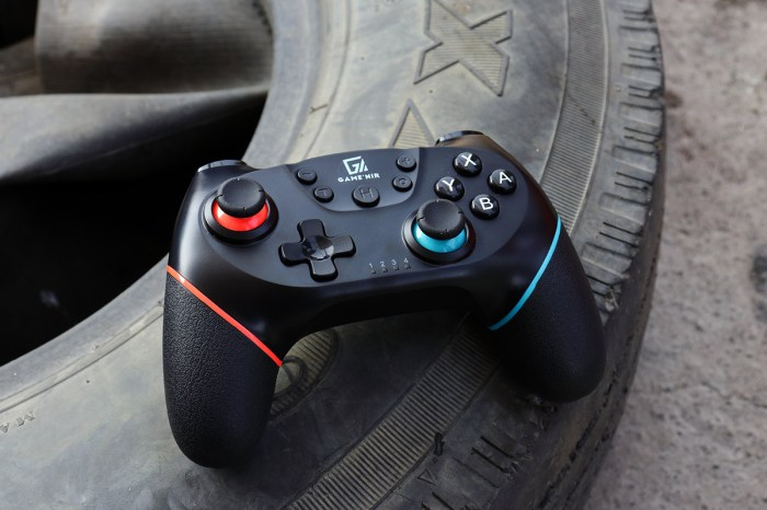 [Switch 手把推薦]GAME`NIR PROX-2 無線震動手把,蒙皮包覆握把、喚醒功能、內建六軸體感儀與雙馬達加強震力,遊戲感受更好更舒適。