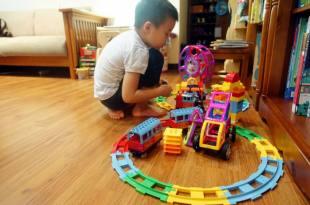 3個玩積木的方法(經驗分享) GINIMAG城市火車磁性建構片