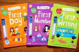 實用的Starting School運筆書-下篇|小小孩的First系列擦寫書(生活認知/數字/字母)