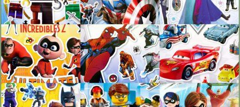 美國DK超過1000張貼紙|迪士尼vs漫威|蝙蝠俠,蜘蛛人,超人特攻隊,閃電麥坤,冰雪奇緣,樂高