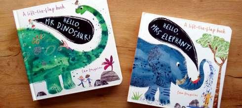 最美的動物翻翻小學堂|Hello, Mrs Elephant! |哈囉! 恐龍先生與大象女士