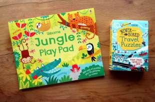 小人絕對不無聊大集合:Travel puzzles益智遊戲卡,還有Jungle Play Pad,媽媽耳朵就安靜