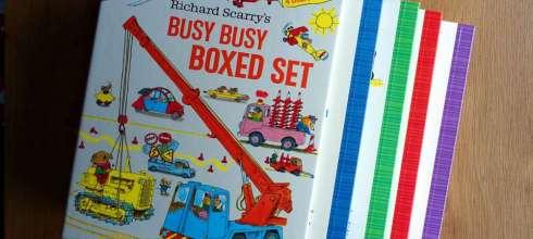 銷售千萬冊的經典手繪故事書 Richard Scarry的Busy Busy硬頁書盒 必備共讀書單