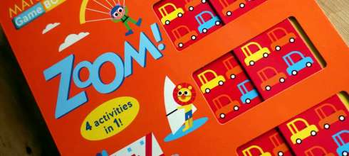 四種不同遊戲|Zoom! Matching Game Book|交通工具推推窗配對書