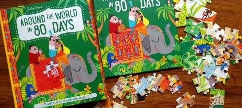 經典故事讀本|Around The World In 80 Days 環遊世界80天拼圖書盒