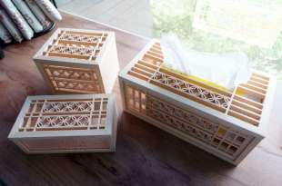 台灣老師傅的手工花窗收納|古錢花磁吸面紙盒,方格托盤,收納盒,紙巾盒,六角杯墊
