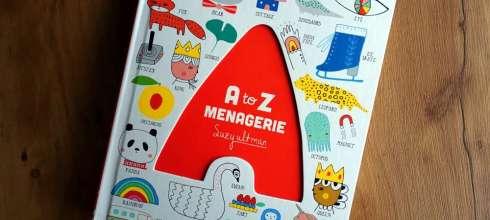 2歲以上共讀 超可愛畫風 A to Z Menagerie硬頁字母操作書