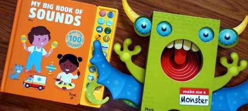 親子共讀|超過100種音效My Big Book of Sounds小手點讀音效書|咬咬書, 硬頁書,鴿子玩具書