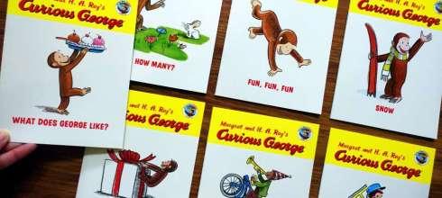 推薦小孩英文橋樑書|好奇𤠣喬治Phonics 12 Book Set|還有I Think I Can與迪士尼有聲書