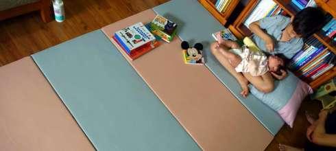 阿紅私物 好清好收的HANPLUS寶寶爬行地墊,40倍高密度泡棉才耐用
