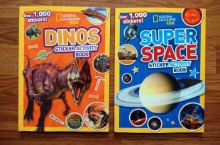 國家地理兒童頻道-超過1000張貼紙遊戲書 恐龍及超級宇宙