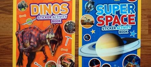 國家地理兒童頻道-超過1000張貼紙遊戲書|恐龍及超級宇宙