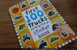 [大推] 超實用500張貼紙書●first 100 trucks and things that go sticker book●