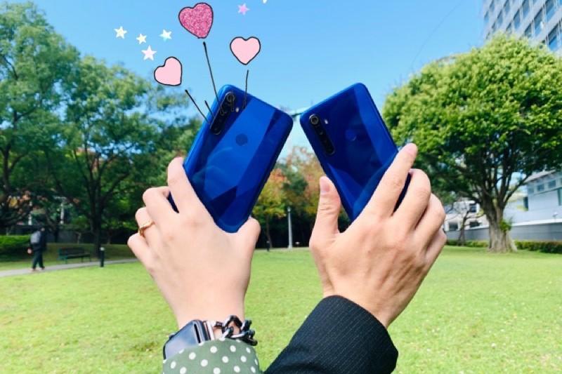 情人節放閃就是要「情侶機」 手機也要成雙成對 限時優惠月付520元  1門號得雙機 一次帶走2支realme 5 500分鐘通話數搭配四鏡頭、AI智慧美顏 隨時熱線、曬閃照