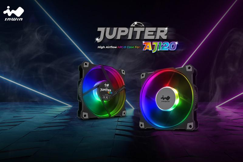 InWin 迎廣科技 推出 ARGB 燈光效果的 Jupiter AJ120,70 CFM超大風量與最大風壓達 2.62mm/H2O