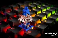HyperX Alloy Origins鍵盤推出最新 HyperX 藍軸版本,規格為50g搭配2段式有聲8000萬次壽命