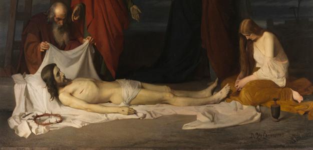 'El Descendimiento' de Domingo Valdivieso, Óleo sobre lienzo, 254 x 343 cm, 1864