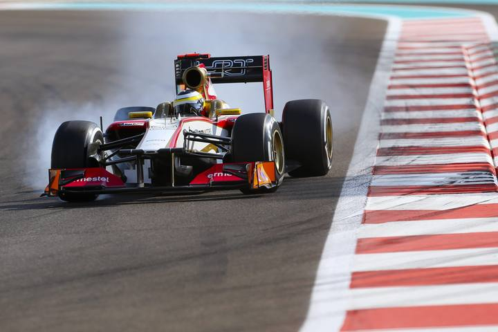 Pedro de la Rosa durante un Gran Premio esta temporada