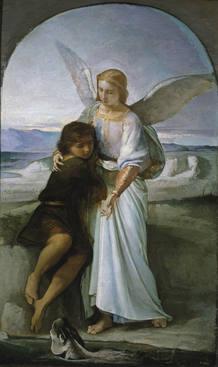 'Tobías y el ángel' Eduardo Rosales, Óleo sobre lienzo, 198 x 118 cm1858-1863