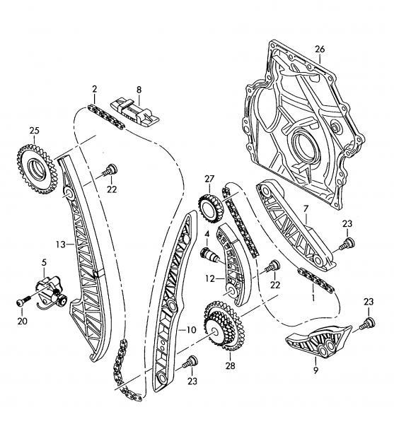 Fits Audi A3 A4 A5 A6 Q5 2 0 08 15 New Engine Chain Kit Tck 06h J