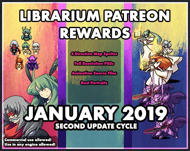 Librarium January 2019 First Update Cycle Reward Set