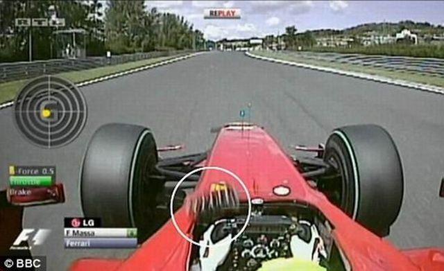 Felipe Massa is a very lucky man (13 pics + 2 videos)