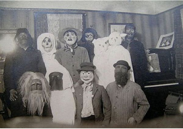 to me they seem almost creepier than modern day costumes here are some photos i found of early costumes