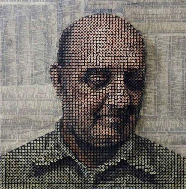 Portraits Made of Screws