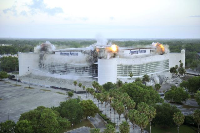 Orlando Magic Arena Blown Up