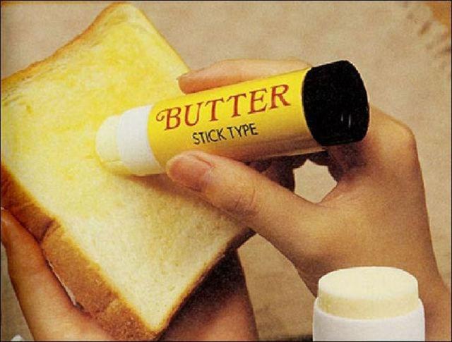 Knife Spreading Peanut Butter