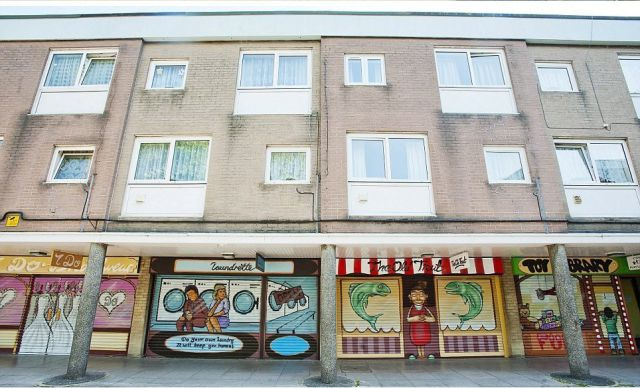 Painted Shop Fronts Mimic the Real Thing…
