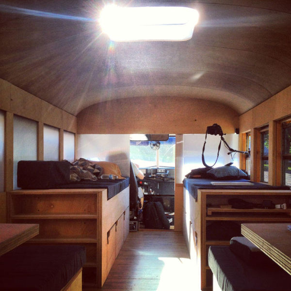 A Cool School Bus Conversion Into A Fully Functional