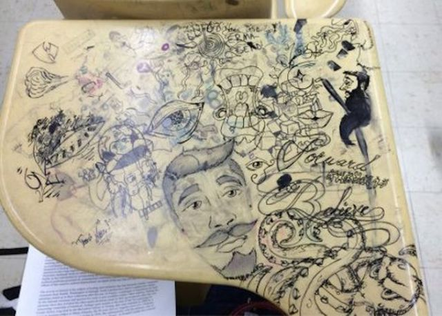 Awesome Desk Doodles That Are Actual Masterpieces 21 Pics