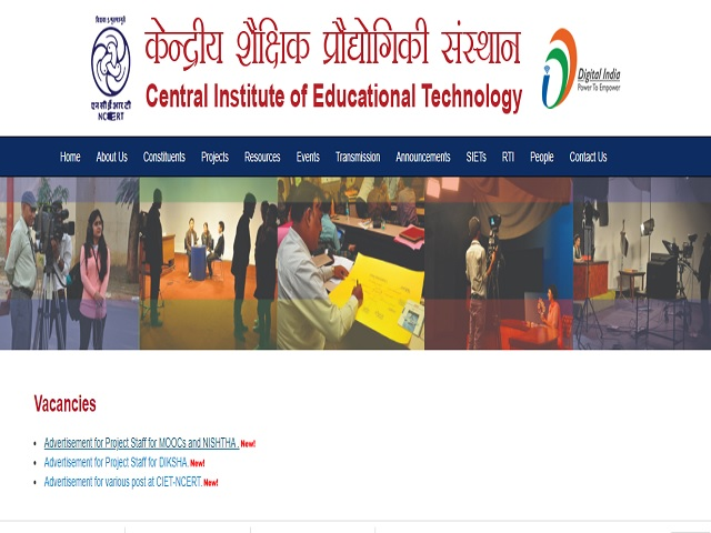 CIET Recruitment 2021: Apply Consultant, Graphic Artist, DTP Operator, Data Analyst & Other Posts