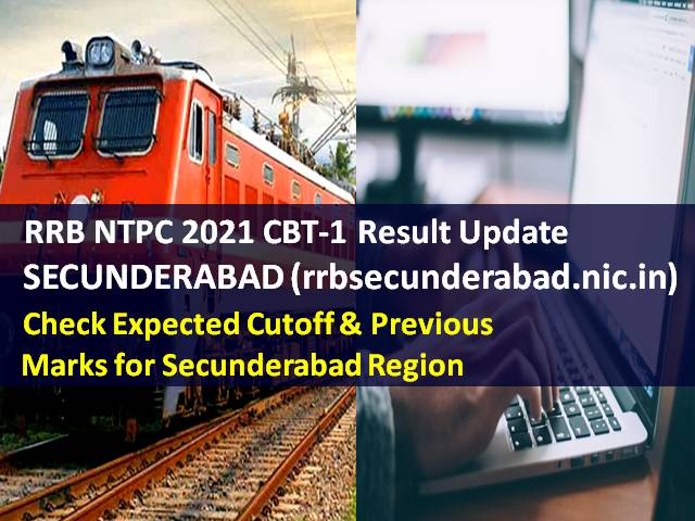 RRB NTPC 2021 CBT-1 Result @rrbsecunderabad.nic.in
