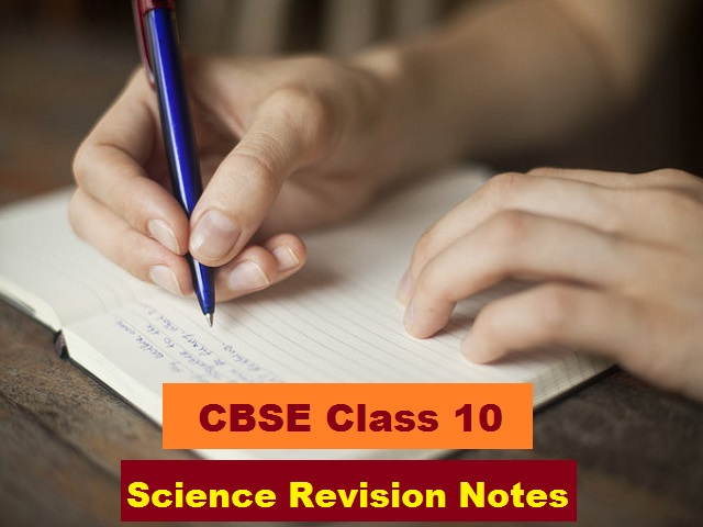 class10 science revision notes
