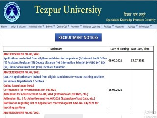 Apply Online for 16 Dy Librarian, Asst Registrar, UDC, LDC, Jr Accountant and Technical Assistant Posts