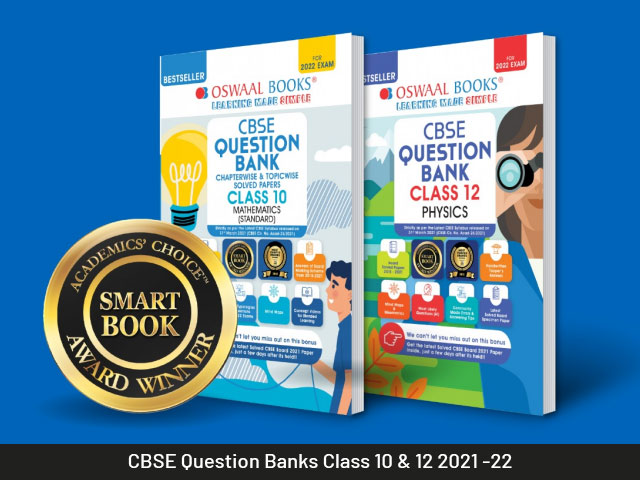 CBSE Question Bank with Competency-Based Questions for 10th and 12th Class Students - New CBSE Syllabus 2021-22