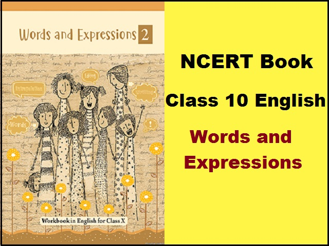 NCERT Class 10 English Words and Expressions Book PDF download  Latest Textbook for 2021-22