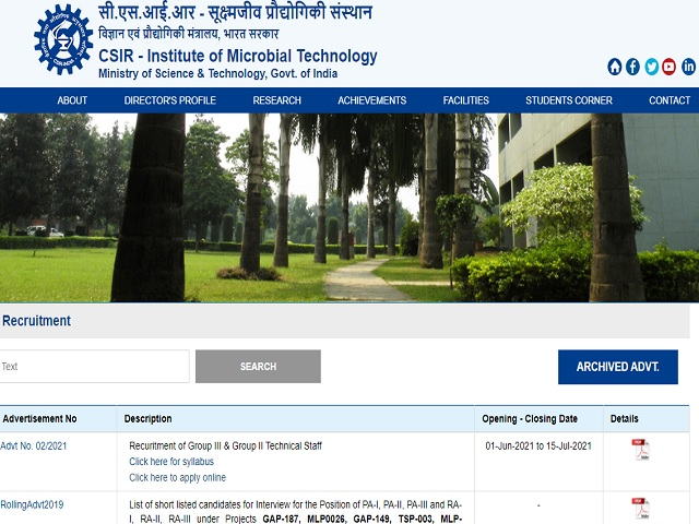 Apply Online for 21 Technical Assistant, Junior Engineer and Other Posts