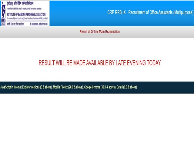 IBPS RRB Clerk Mains Result 2021 Out @ibps.in, Download CRP RRB IX Office Assistant Result Late Evening Today