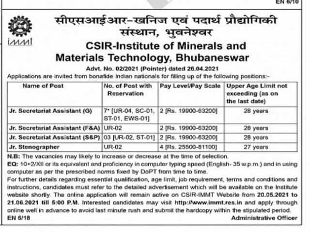 CSIR IMMT image