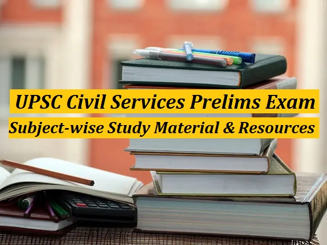 Free Subject-wise Study Material & Important Resources for Preparation
